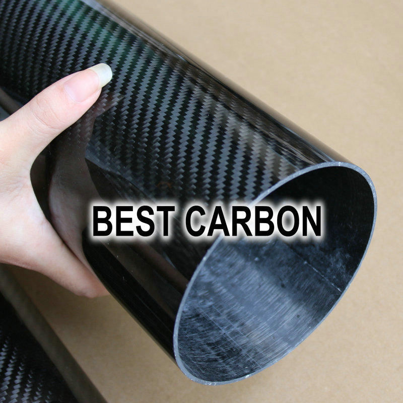 64mm x 60mm High quality 3K Carbon Fiber Fabric Wound/Winded/WovenTube exit wound