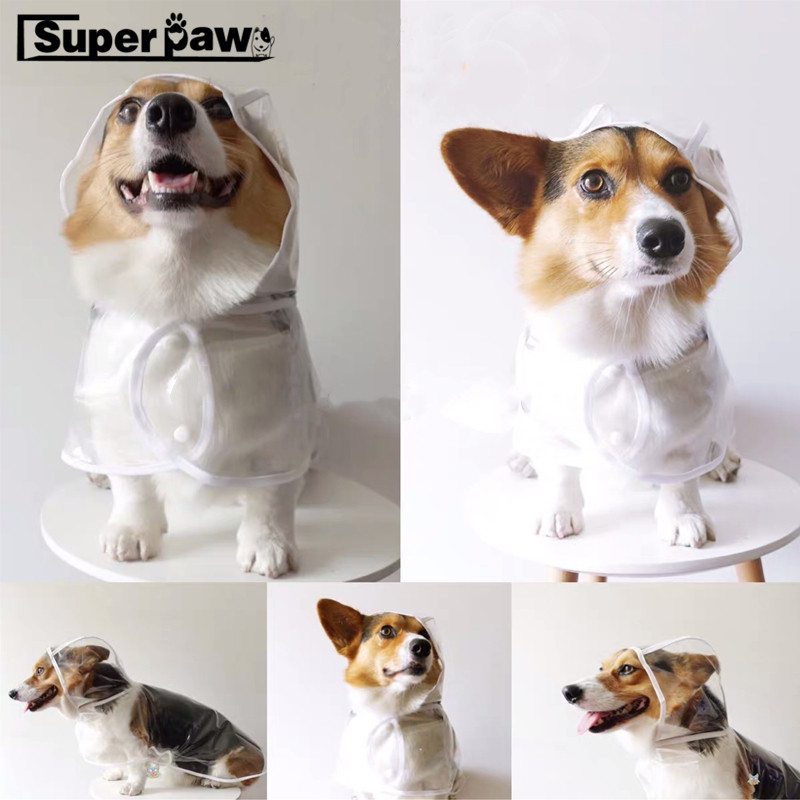 Waterproof Dog Puppy Raincoat Transparent Rain Coat Pets Raincoats For Small Dogs Pet Clothes Chihuahua Corgi Teddy Yorkie GGC21