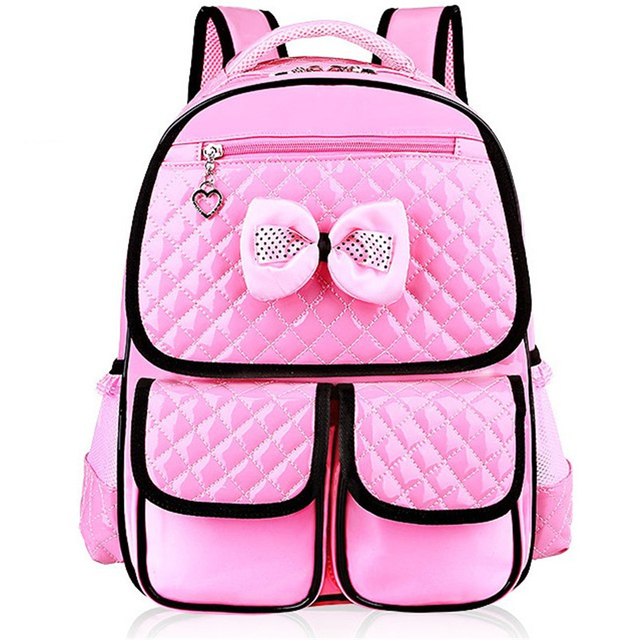 New Fashion Children School Bags Girls High Quality PU Children Backpack School Backpacks Child Book Bag 2016 Free Shipping Z332