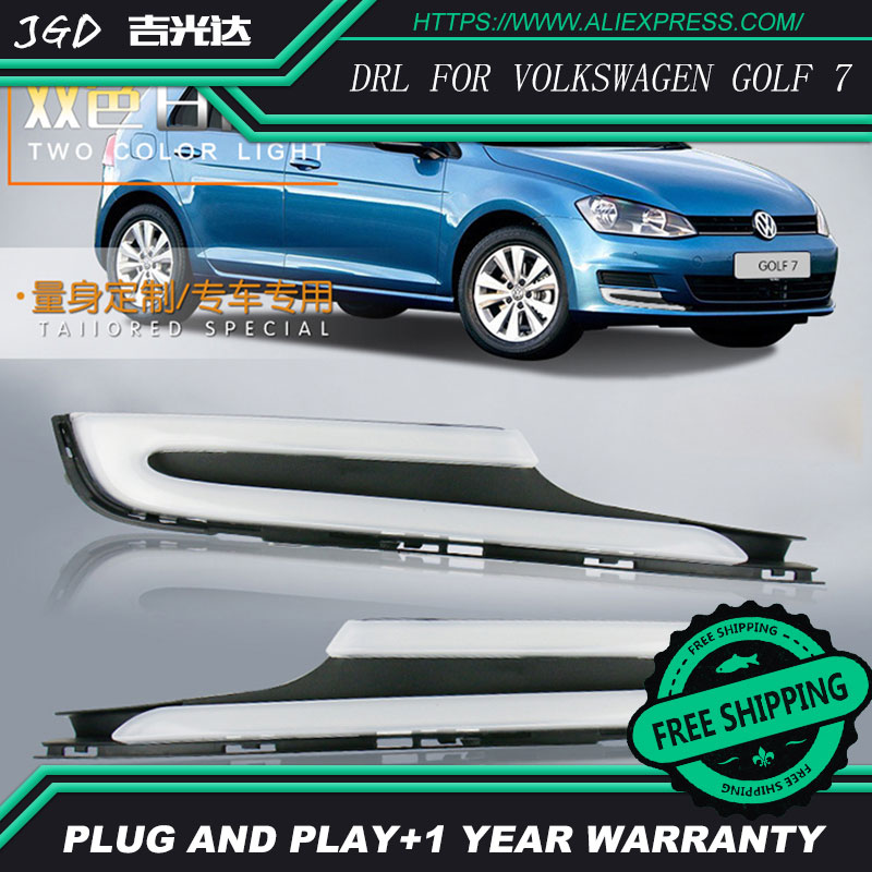 Free shipping ! 12V 6000k LED DRL Daytime running light for VW Golf 7 2014 2015 2016 fog lamp frame Fog light Car styling 2011 2013 vw golf6 daytime light free ship led vw golf6 fog light 2ps set vw golf 6