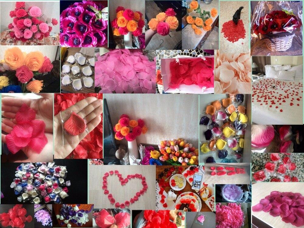 2000 шт. / партия 5* 5 см шелковые лепестки роз на свадьбу, Романтические искусственные лепестки роз Свадебные розы