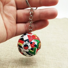 3D Sports Football National Flag Key Chains Party Souvenirs Keyring for Men Soccer Fans Keychain Car Holder Pendant Couple Gift