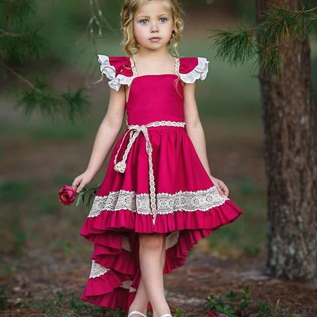 KAVKAS kids dresses for Girls Cotton Sleeveless