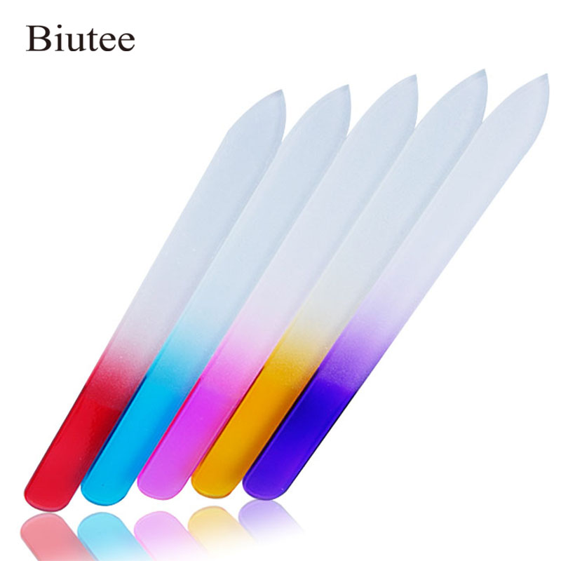 3pcs/Lot Mix Color Nail File  Glass Nail Buffer File Standing Block Buffer Buffers Grinding Polishing Manicure Nail Art Tool