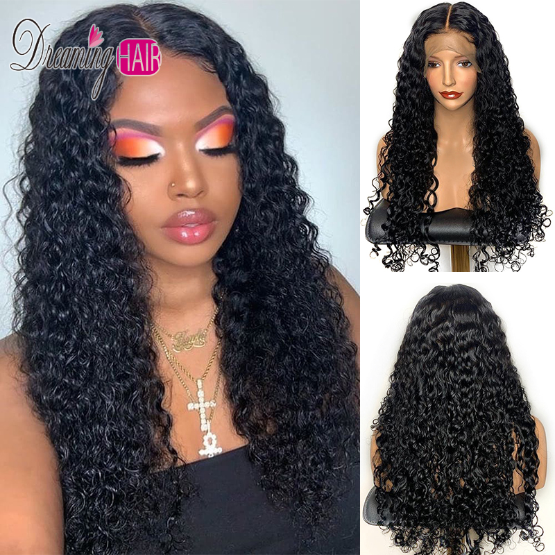 150% Density 13x6 Curly Lace Front Human Hair Wigs With Baby Hair For Black Women Pre Plucked Brazilian Virgin Hair Wigs