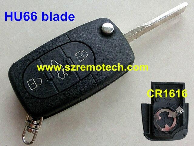 Free Shipping Folding Flip Replacement Car Key Blank Shell B - Audi car key battery