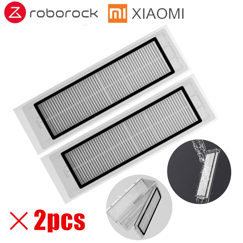 2pcs Suitable for XIAOMI Robot Vacuum Cleaner Spare Parts Roller Replacement Kits Cleaning Framed HEPA Filter