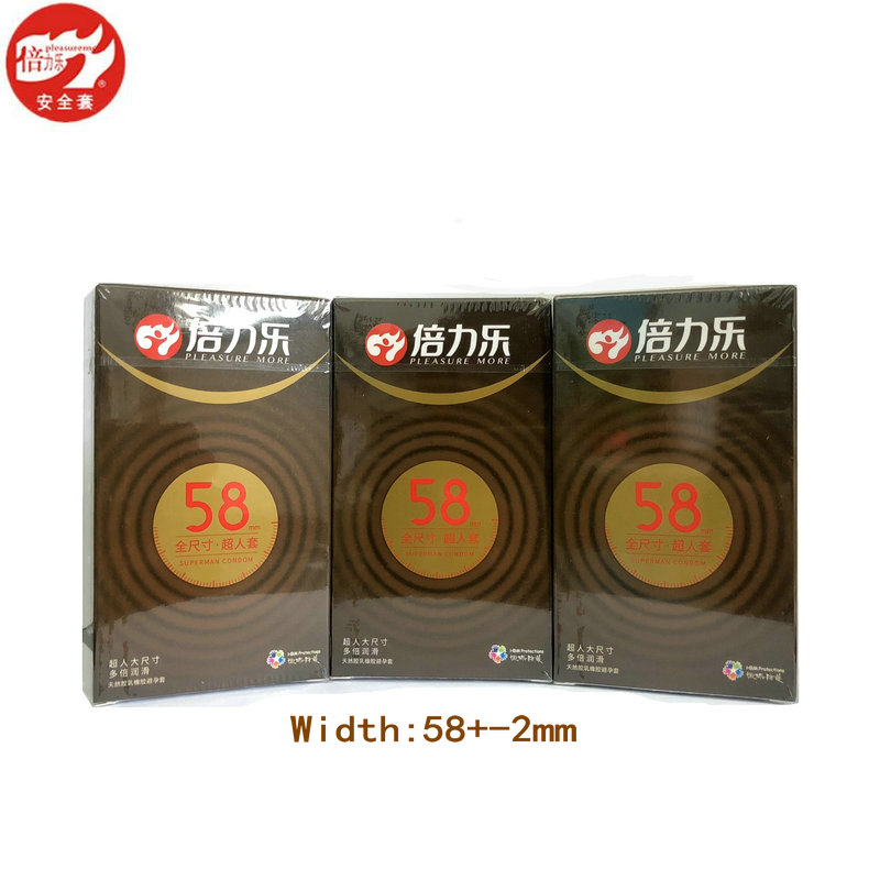 40PCS/Lot <font><b>XXL</b></font> 58mm Condoms Extra Large Smooth Lubricated Latex Contraception Condom Wider For Greater Comfort <font><b>Sex</b></font> Toys For Men image