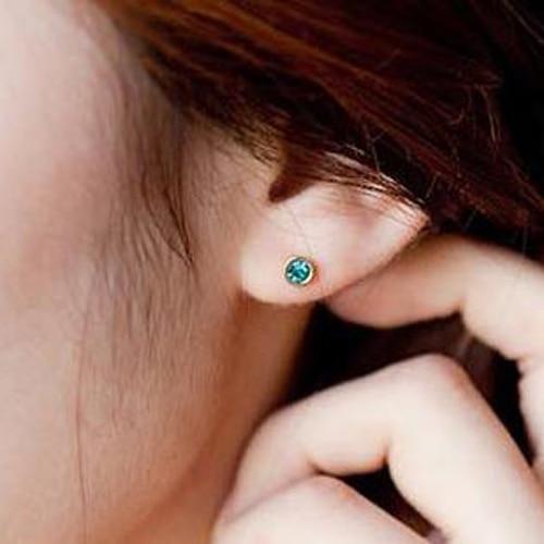 LNRRABC 6MM Crystal Ear Studs Piercing Ladies Mini Small Stud Earrings with  Stone for Women Men Fashion Jewelry LY-in Stud Earrings from Jewelry ... eaa759547