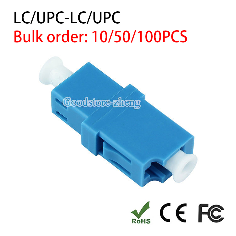 LC UPC Simplex LC Mounted Fiber Optical Adapter Single Mode SM Coupler Blue fiber coupler