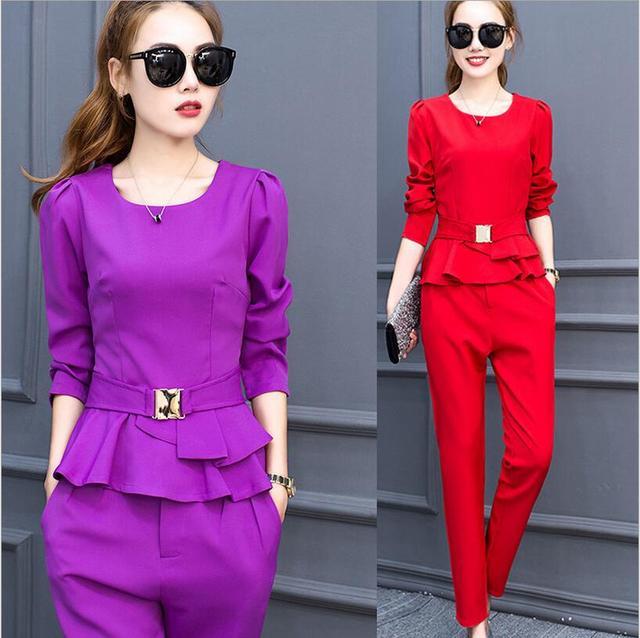 Korean Women Clothing Set 2018 Formal Elegant Ladies Office Wear