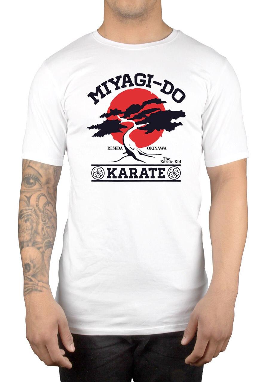 Новая модная летняя рукавом футболки Homme футболка Мияги сделать Карликовые деревья дерево karate kid martialer искусство Японии 80-х лучшие Футболки ...