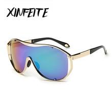 XINFEITE 2017 Fashion Luxury Female Sunglasses Men Women Brand Oversized Sun Glasses Male Ladies Big Frame UV400 Driving Oculos