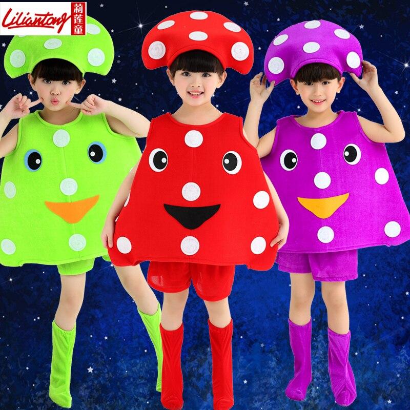 Enfants de maternelle groupe fruits des plantes et légumes champignon  costumes dans Chinois Danse Folklorique de Nouveauté \u0026 Usage Spécial sur