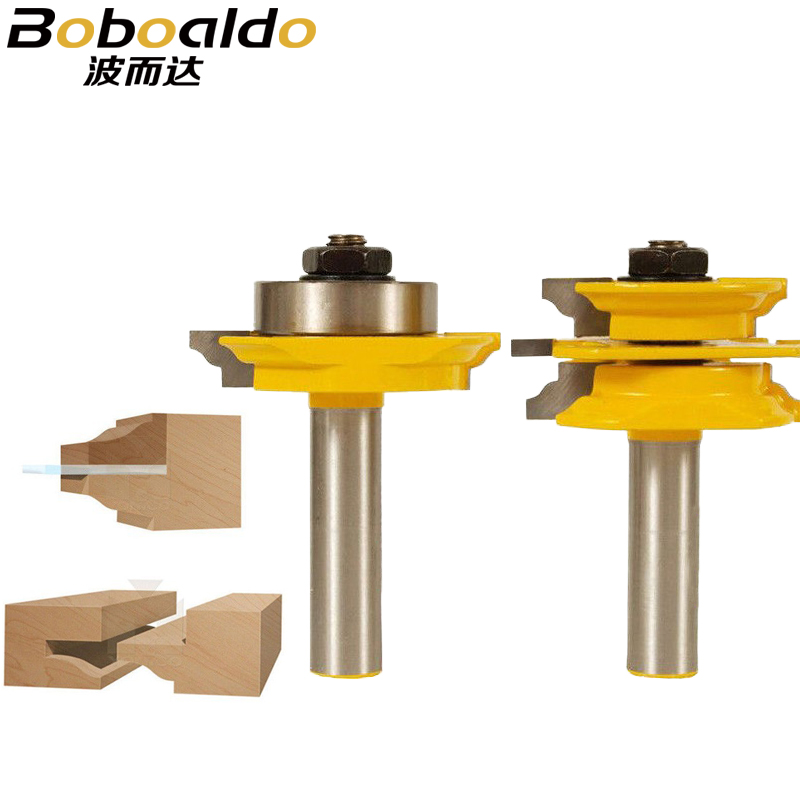 1/2 Shank Ogee 2 pcs Glass Door Rail and Stile Router Bit Set C3 Carbide Tipped Wood Cutting Tool woodworking router bits тостер vigor hx 6024