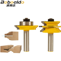 1/2 Shank Ogee 2 pcs Glass Door Rail and Stile Router Bit Set C3 Carbide Tipped Wood Cutting Tool woodworking router bits