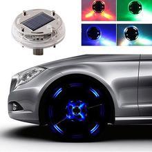 4 модели крутой дизайн 12 светодиодный автомобильный Автомобиль Авто Солнечная энергия вспышка колесо шина светильник лампа
