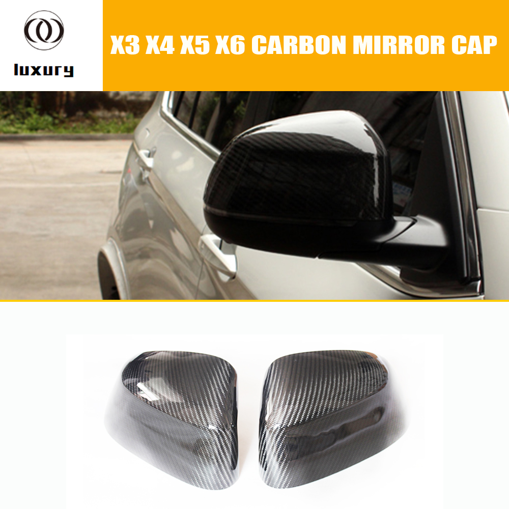 F25 F26 F15 F16 Carbon Fiber Rear View Side Mirror Cover Cap for BMW F25 X3 F26 X4 F15 X5 F16 X6 2014 2015 2016