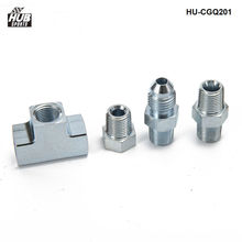 Hubsports-4AN до 1/8 NPT адаптер 3 way T фитинг Универсальный топливо/масло/газ/вода 4-4AN-4 HU-CGQ201