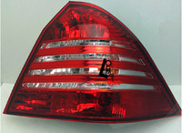 car styling Smoked Red LED Tail Lights Taillight For W203 C230/C240/C320/C350/C55