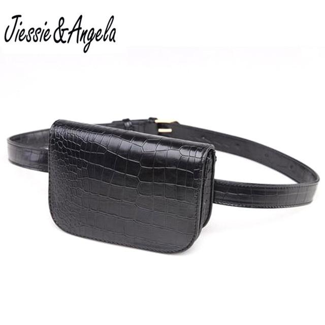Jiessie & Angela New Fashion Women Leather Waist Bag Belt Bags Fanny Pack Lady's Pouch Wallets Waist Pack Belt Bags Bolosa