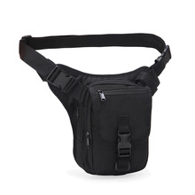 лучшая цена Tactical Leg Bag Training Camping Waist Pack for Outdoor Hiking Black Fanny Pack Waterproof Oxford Satchel Cell Phone Waist Bag