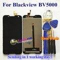 Alta qualidade display lcd + touch screen digitador assembléia vidro substituição para blackview bv5000