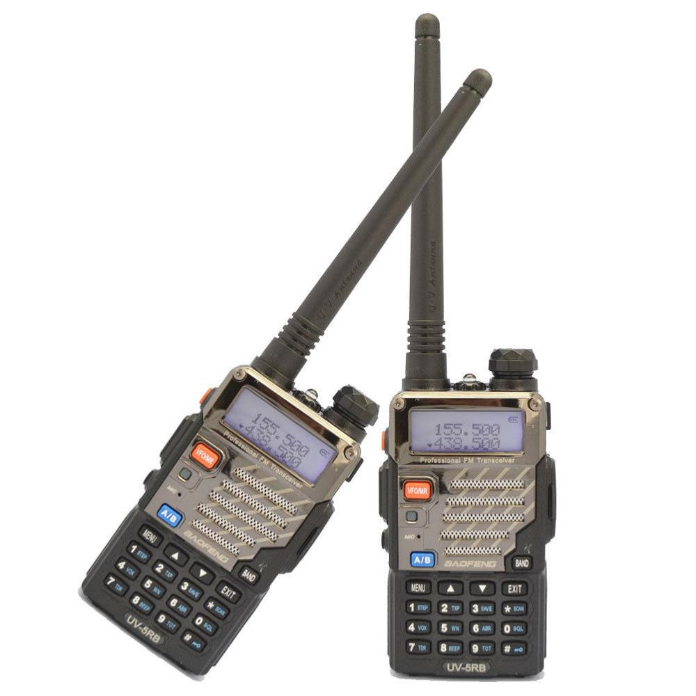 2 pcs BAOFENG UV 5RB 5R PLUS New 136 174/400 520MHZ Dual Band Radio+earpiece+RU STOCK