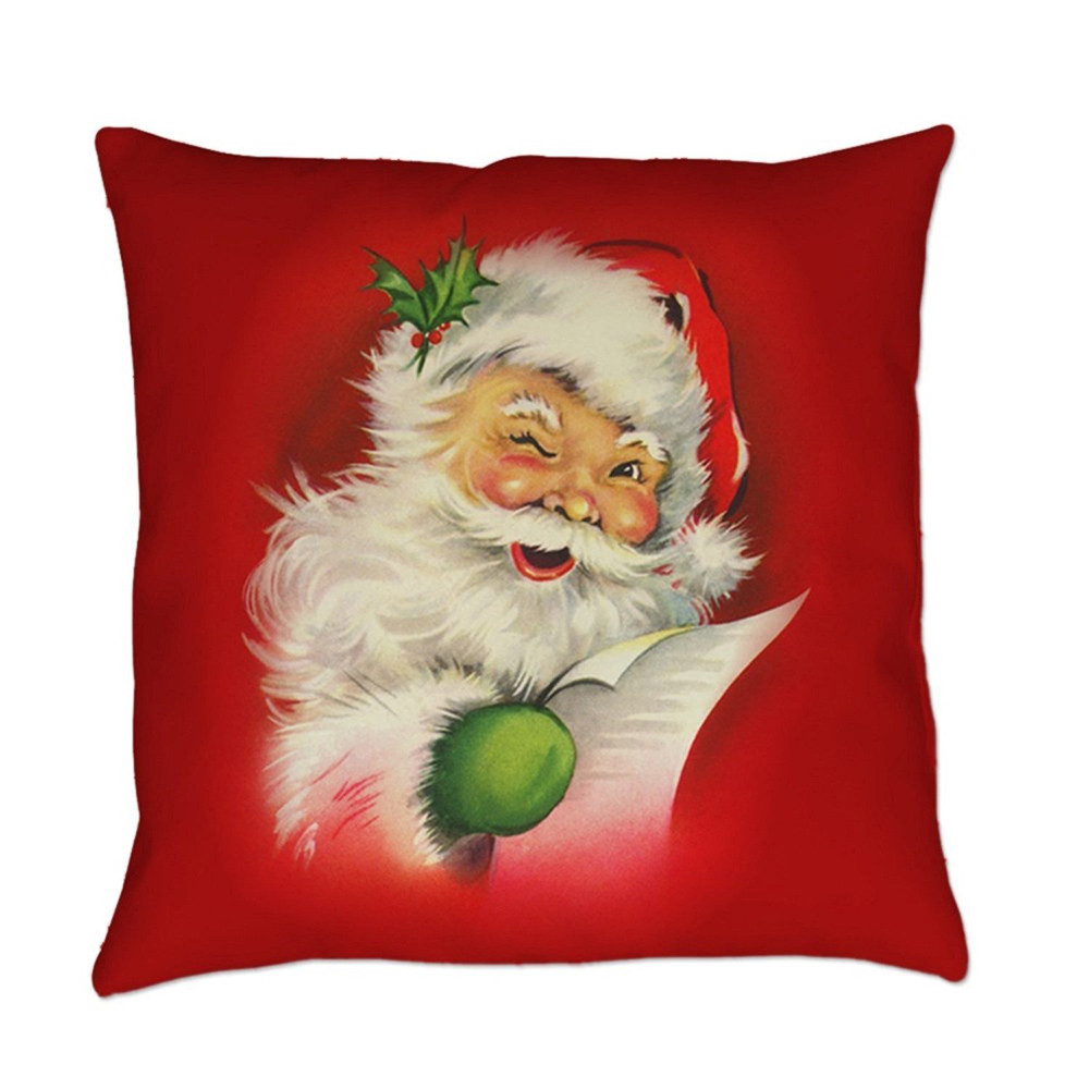 Image 3 - Merry Christmas Pillow Cover Santa snowman Cotton Linen Sofa Modern Cozy Throw Cushion Cover Home Bed Car Decoration-in Cushion Cover from Home & Garden