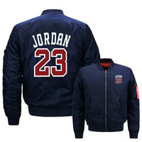 Autumn New Mens JORDAN 23 Hoodies Fashion Printing Baseball jacket Casual Sweatshirts Hip hop Male Hoody MA1 Men Bomber jacket