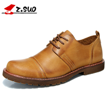 2017 New Arrival Genuine Leather Men Shoes Walking Shoes For Men Spring Tide Shoes Men Tie British Male Tide