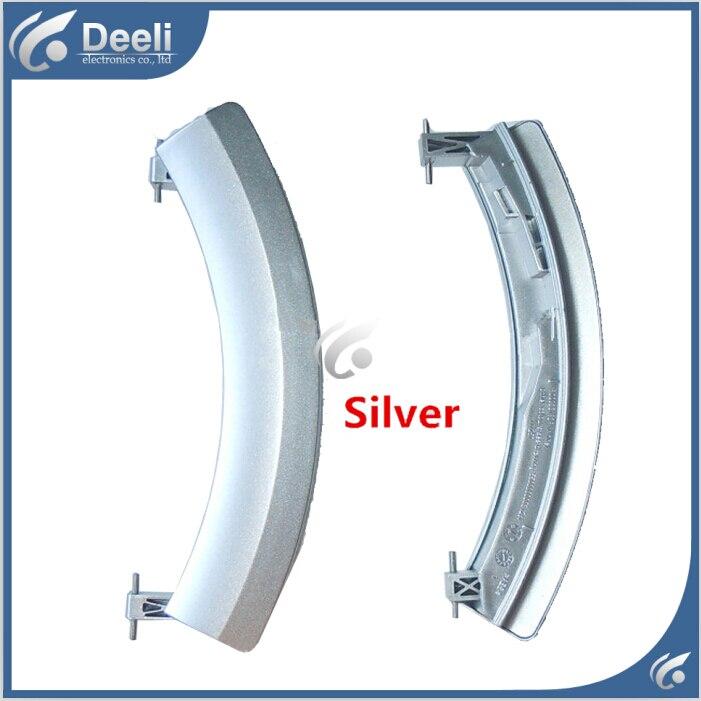 1PCS Silver new Original for washing machine parts door handle door handles door switch WD12H460TI 14H468TI WS10M460TI original new for lg drum washing machine door hinge 42741701 1pcs