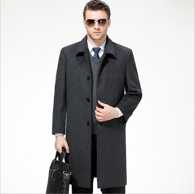7d864d5ccbe ... пальто длинный абзац мужчины тонкий черный кашемир Куртки теплое. 2018  New Winter Men Casual Wool Coat Long Paragraph Men Slim Black Woolen Coat  Men S