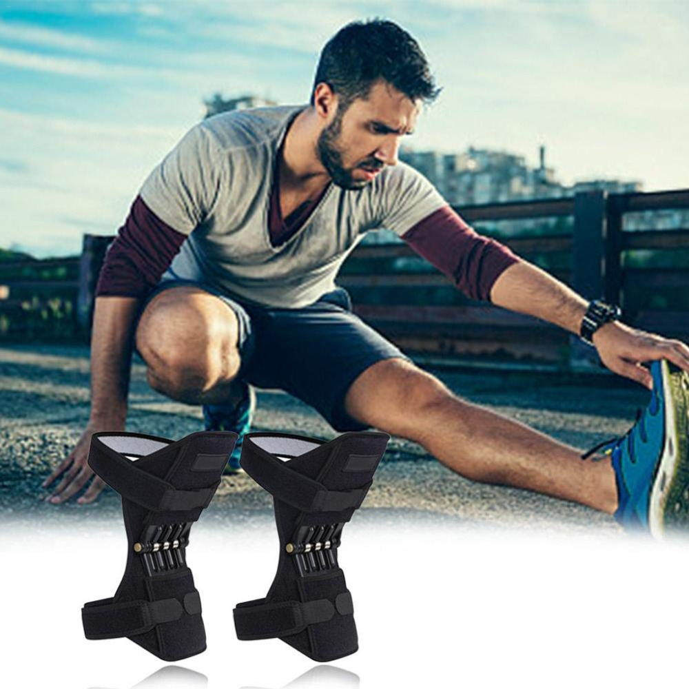 [Ready Stock]1Pair Joint Support Knee Pads Breathable Non-slip Power Lift Knee Pads Powerful Rebound Knee Booster Dropshiping