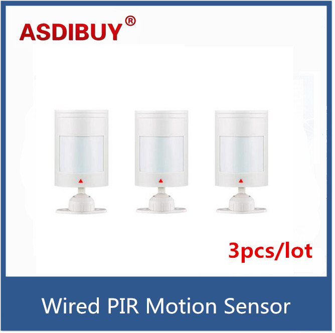3pcs/lot Wired PIR Motion Sensor Detector For GSM PSTN Home Security Alarm System personal alarm mb tgz380 3 axis gyro flybarless system for align trex t rex etc 450 550 600 700 rc helicopter fbl dfc