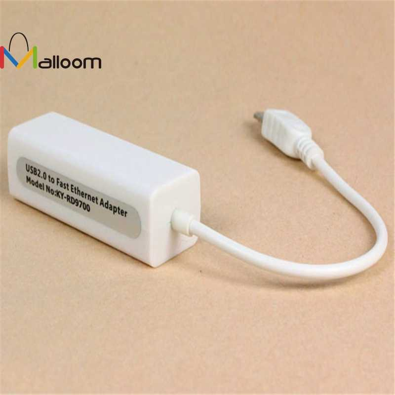 Malloom 2018 New Arrival High Speed Micro 5pin USB To RJ45 10/100M Ethernet Network Adapter For SamsungTable PC