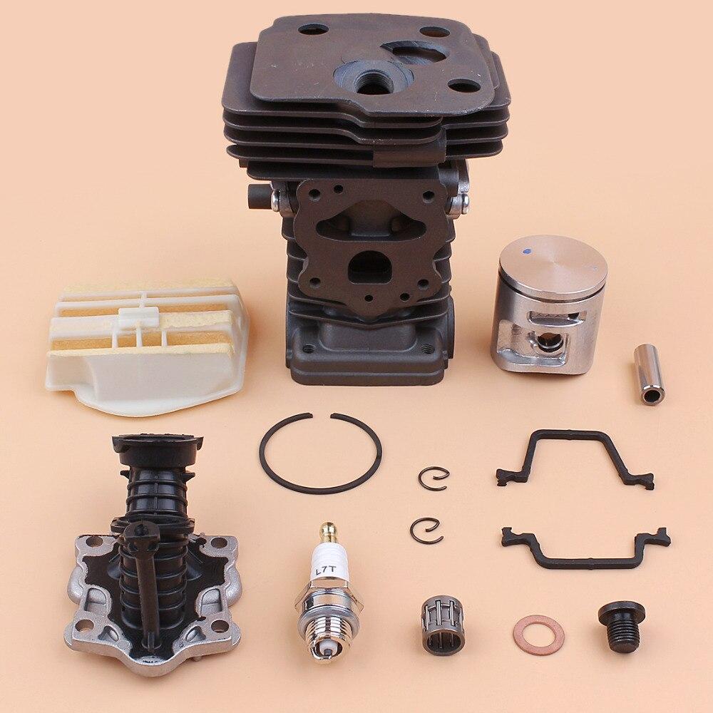42mm Cylinder Piston Ring Kit For Husqvarna 445 445E Air Filter Intake Manifold