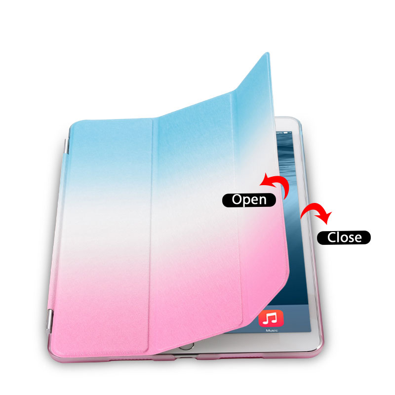 Rainbow Tablets Case For iPad Pro 10 5 iPad Air 3 10 5 2019 Color Pattern Smart Tri folded Tablet Cover For iPad Pro 10 5 Cases in Tablets e Books Case from Computer Office