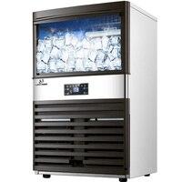 آلة صنع الثلج التلقائي الساخن الكهربائية 100 كجم لشريط مقهى غرفة الشاي الحليب التجارية آيس كيوب ماكينة 110 فولت 220 فولت