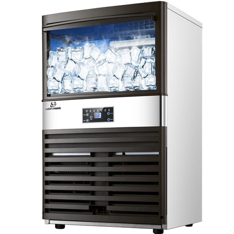 Vornehm Heißer Automatische Eismaschine Maschine Elektrische 100 Kg Für Bar Kaffee Shop Milch Tee Zimmer Kommerziellen Ice Cube Der Maschine 110 V 220 V Großgeräte Eismaschinen