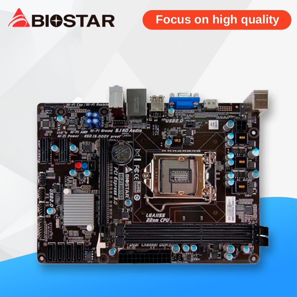 BIOSTAR Hi-Fi H61S3 Desktop Motherboard H61 LGA 1155 DDR3 16G SATA2 USB2.0 Micro ATX