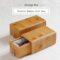 Fashion Bamboo Storage Box Simple Small Family Retro Deconations Case Useful Jewelry Women Jewelry Box C023