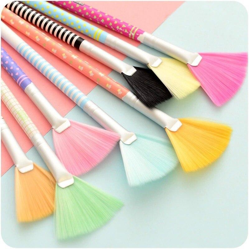 Esquina de hendidura colorido polvo brushs pincel tipo percha bolsa de tela gafa