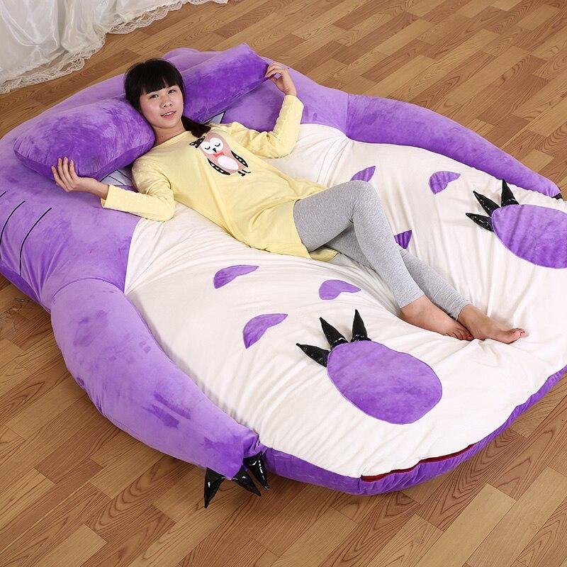14 KG 170*200 cm grande taille grand lit Double Totoro matelas en mousse à mémoire douce dormir dessin animé géant Tatami