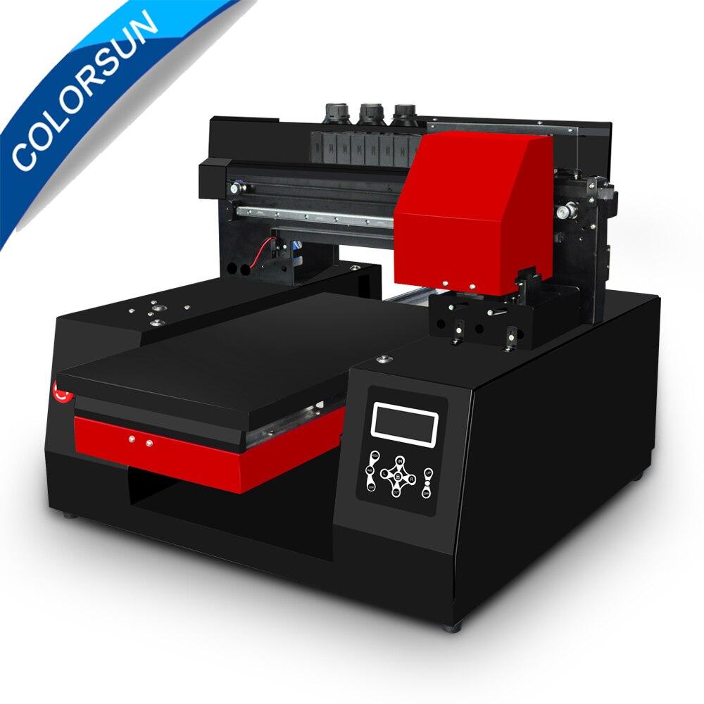 Colorsun Automatique A3 3060 UV À Plat Imprimante en cuir Métal 3060 imprimante uv pour Epson DX9 tête d'impression avec une vitesse plus rapide