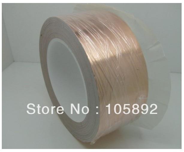 Free Shipping 45mm x 30M x 0.06mm Copper Foil Conductive Adhesive and Single Conductive COPPER FOIL TAPE