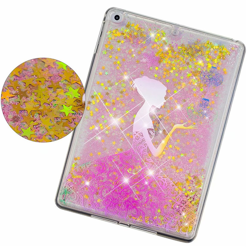 Unicorn Quicksand Silicon Soft TPU Back Cover Case Voor ipad Air 1 Air 2 Nieuwe ipad 9 7 2017 2018 9 7 inch Tablet Shell Coque in Tablets e Books Case from Computer Office