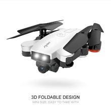 цена на Foldable RC Quadcopter 720P Double Cameras Headless Mode RC Helicopters Drone Profissional Toys for Boys