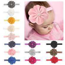 baby girl headband Infant hair accessories clothes band flower newborn floral Headwear tiara headwrap hairband Gift Toddlers