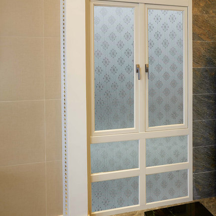 60 cm wide without glue thickened electrostatic stickers grilles refractive bathroom toilet window film translucent frosted